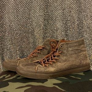 VANS SK8 HI DISTRESSED LEATHER